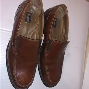 Men's bass leather loafers slip on shoes